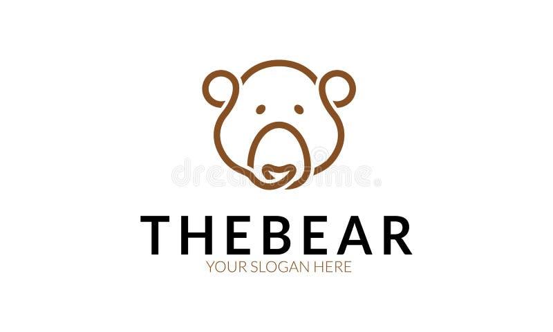 Björnlogo vektor illustrationer