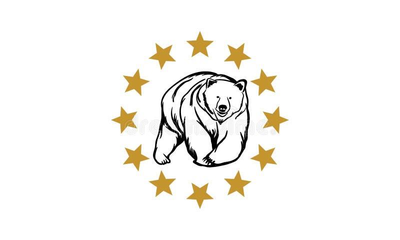 Björnlogo arkivfoton