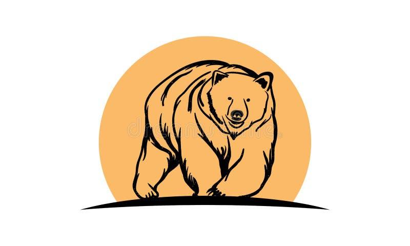 Björnlogo arkivbild