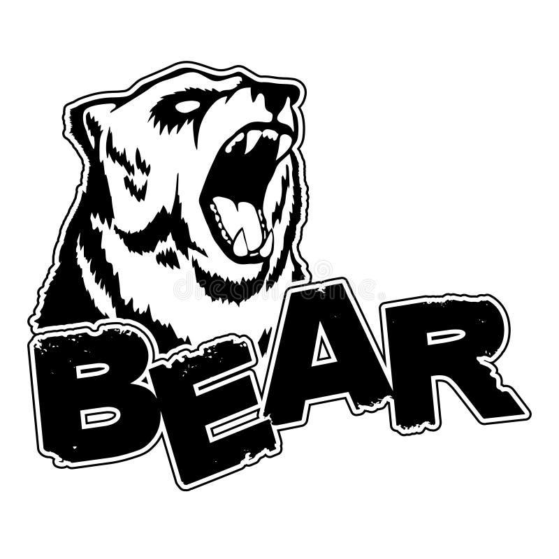 Björnlogo på en isolerad vit bakgrund vektor illustrationer