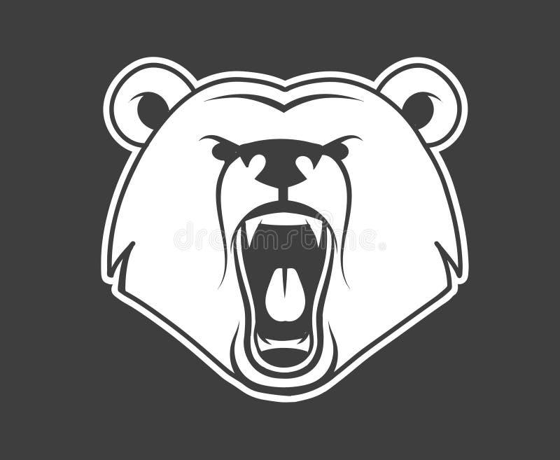 Björnmorrande royaltyfri illustrationer