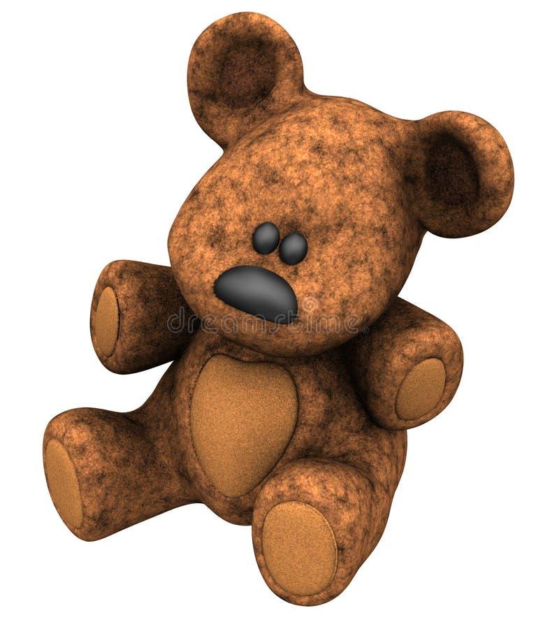 björnnalle stock illustrationer