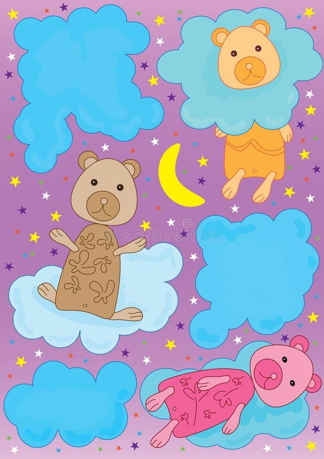björnoklarhet stock illustrationer