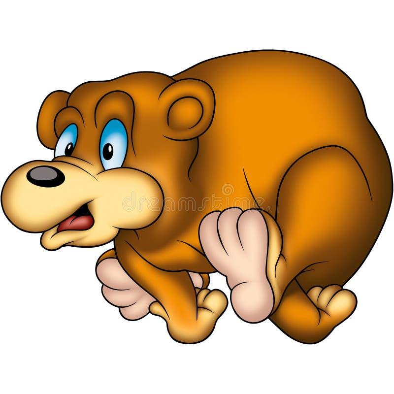 björnrunning royaltyfri illustrationer