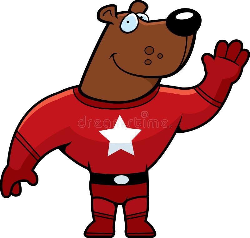 björnsuperhero stock illustrationer