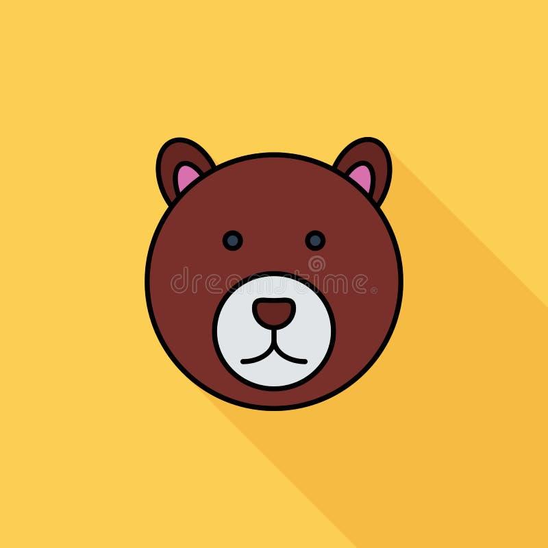 Björnsymbol stock illustrationer