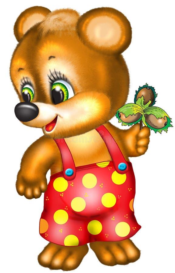 björntecknad film royaltyfri foto