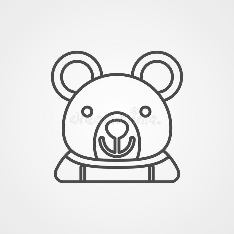 Björnvektorsymbol royaltyfri illustrationer