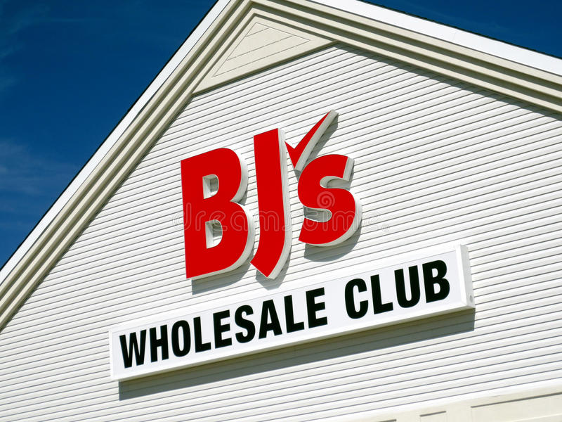 BJ的批发俱乐部 免版税库存图片