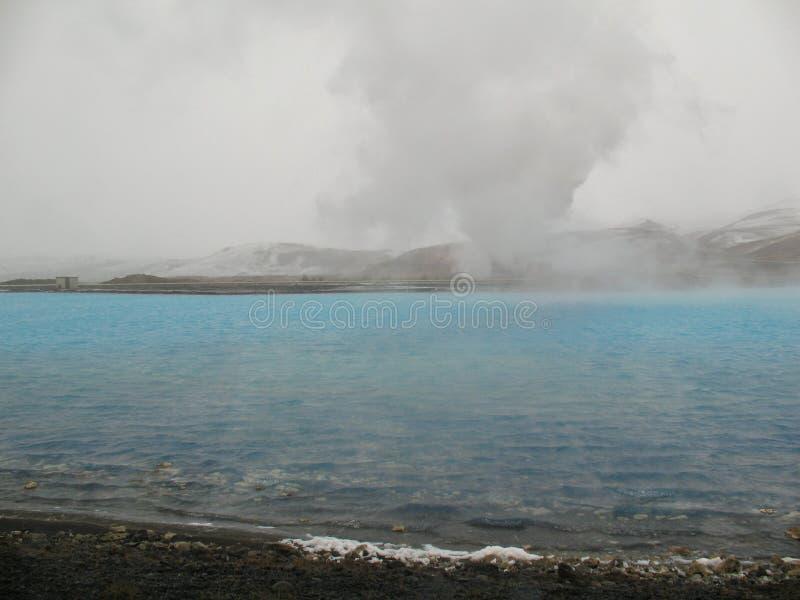 Bjarnarflag, geotermiczny icelandic krajobraz zdjęcia royalty free