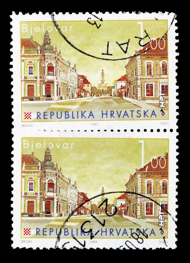 Bjelovar, serie croato delle città (iii), circa 2007 immagini stock libere da diritti