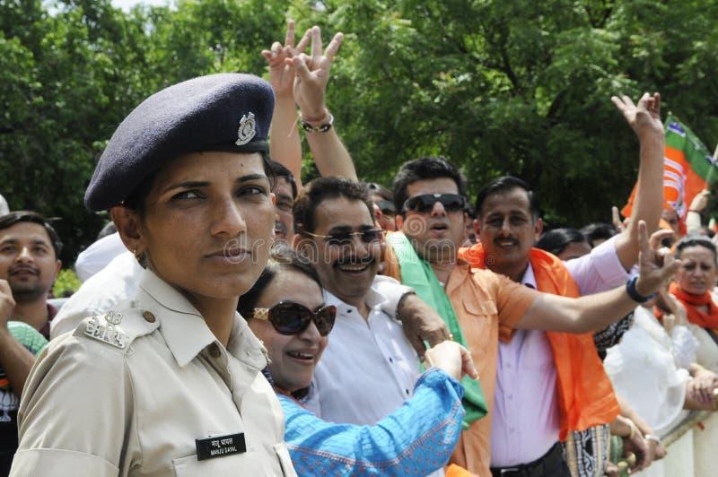 Bjp przyjęcia pracownicy w India obrazy royalty free