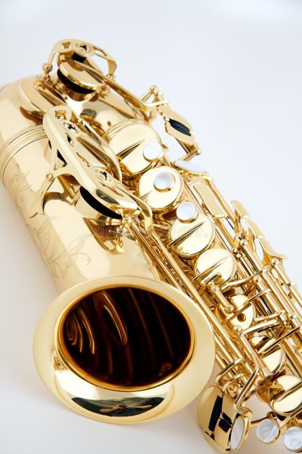 bk απομονωμένο λευκό saxophone στοκ εικόνα με δικαίωμα ελεύθερης χρήσης