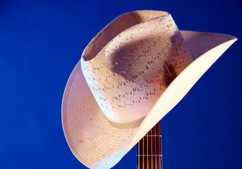 bk błękitny gitary kapeluszowy szyi western obrazy royalty free