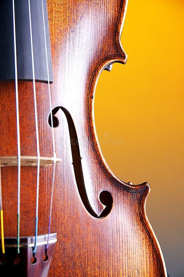 bk ciała zakończenia skrzypce kolor żółty zdjęcie stock