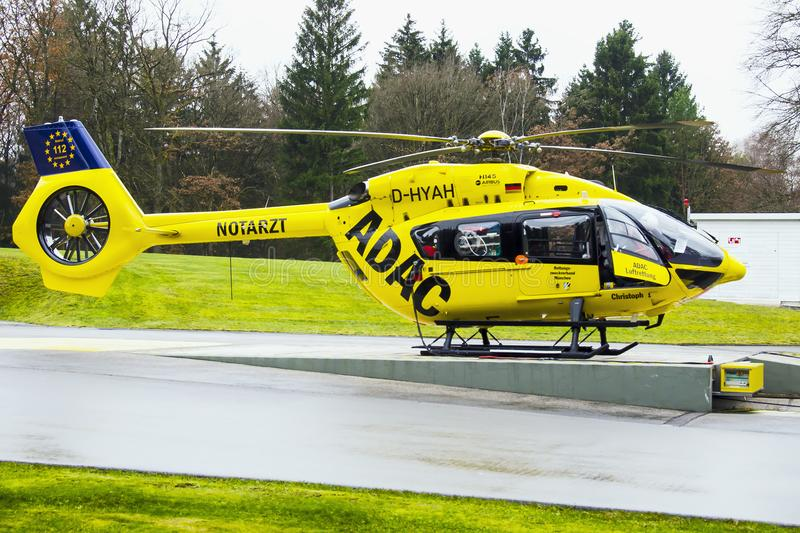 BK117 emergency services helicopter stock image