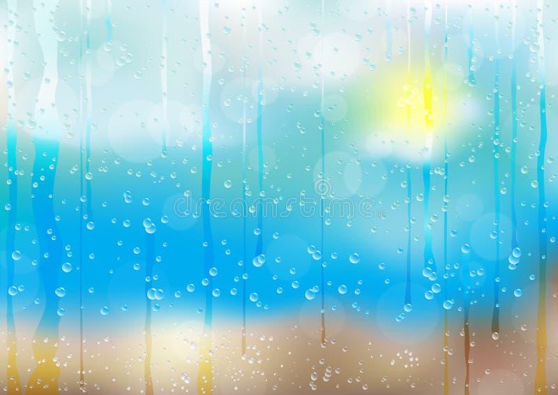 bk tappar regn royaltyfri illustrationer