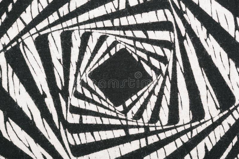 Bkack e fondo bianco del tessuto immagine stock