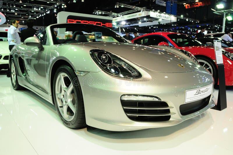BKK - 28 DE NOVEMBRO: Porsche Boxster na exposição no international de Tailândia fotos de stock