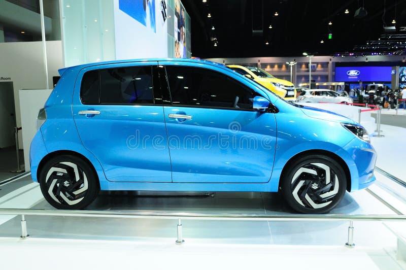 BKK - NOV 28: Suzuki wiatr, Eco pojęcia samochód na pokazie przy Tajlandzkim, zdjęcia stock