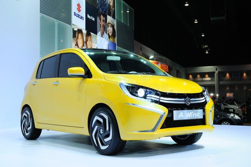 BKK - NOV 28: Suzuki wiatr, Eco pojęcia samochód na pokazie przy Tajlandzkim, fotografia royalty free