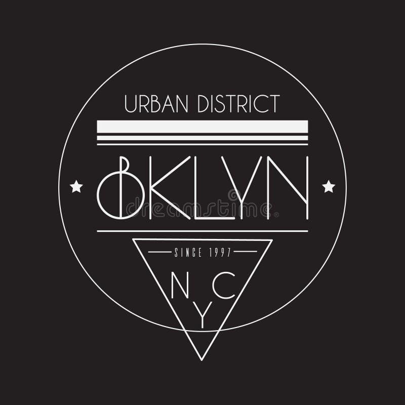 BKLYN 都市disctrict 皇族释放例证