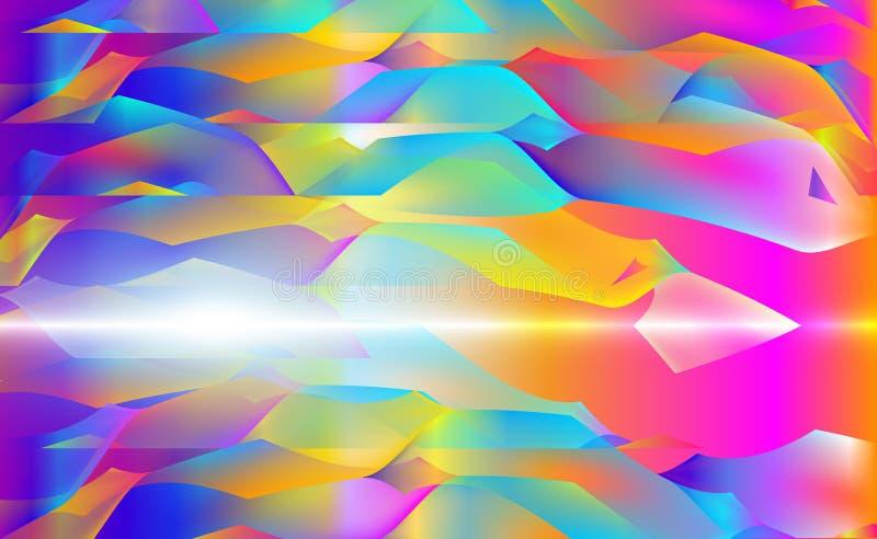 Bläckar mångfärgad vektorbakgrund ner för rymdfarten med lutningabstrakt begreppillustrationen Modellen kan användas för aquaanno royaltyfri illustrationer