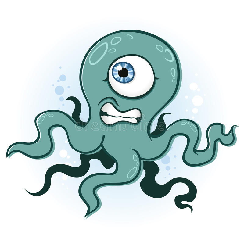 bläckfisktioarmad bläckfisk stock illustrationer