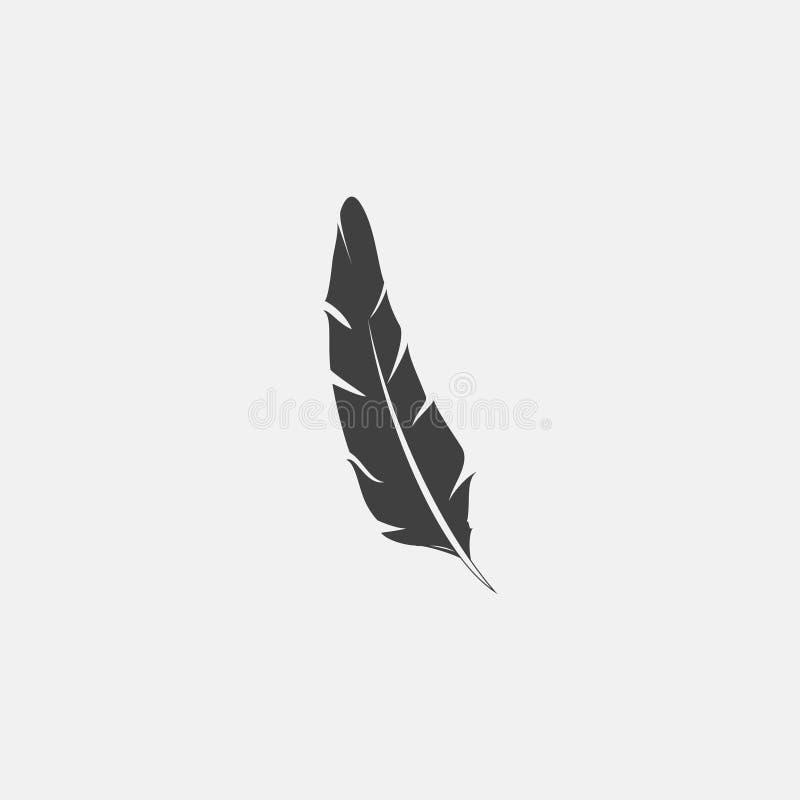 Bläckpennasymbol stock illustrationer