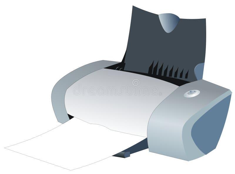 bläckstråleskrivare vektor illustrationer