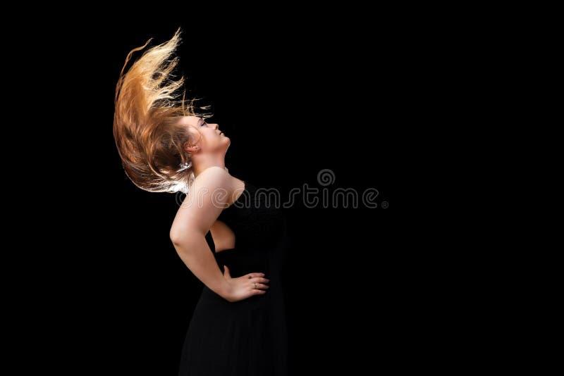 bläddring av hår arkivbild