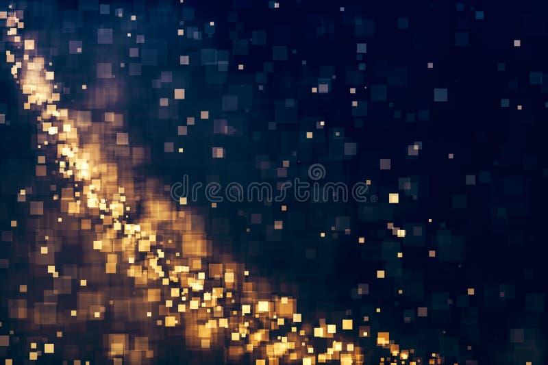 Blänka abstrakt defocused julbakgrund för ljus royaltyfri illustrationer