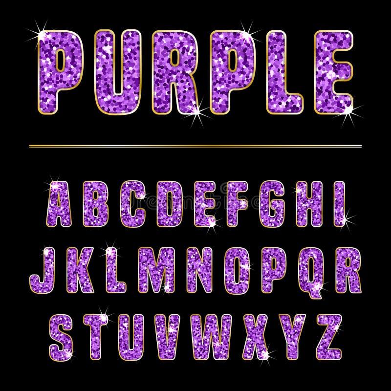 Blänka alfabetlilor stock illustrationer