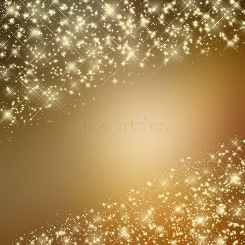 Blänka gul bakgrund med stjärnor vektor illustrationer