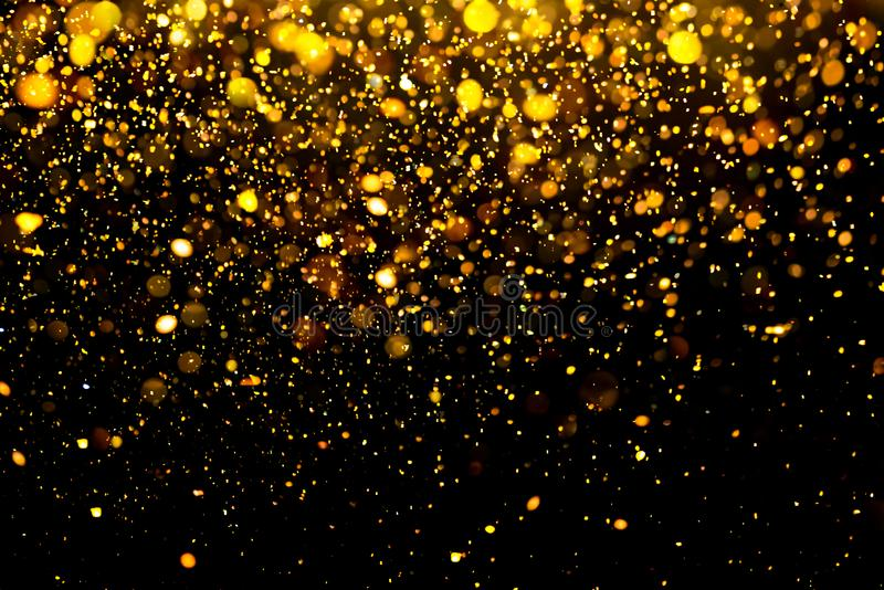 Blänka guld- bokeh Colorfull gjorde suddig abstrakt bakgrund för födelsedagen, årsdagen, bröllop royaltyfri fotografi