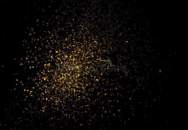 Blänka guld- bokeh Colorfull gjorde suddig abstrakt bakgrund för födelsedagen, årsdagen, bröllop royaltyfria foton