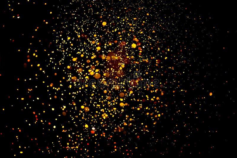 Blänka guld- bokeh Colorfull gjorde suddig abstrakt bakgrund för födelsedagen, årsdagen, bröllop royaltyfria bilder