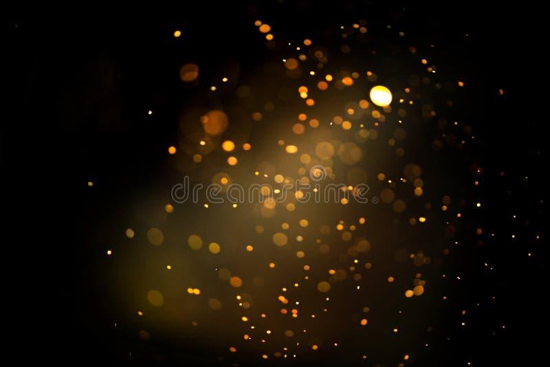 Blänka guld- bokeh Colorfull gjorde suddig abstrakt bakgrund för födelsedagen, årsdagen, bröllop arkivbilder