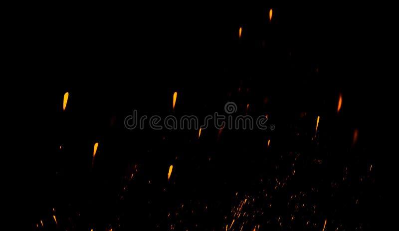 Blänka lampabakgrund Abstrakt mörker blänker brandpartiklar tänder textur eller textursamkopieringar royaltyfri illustrationer