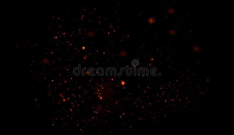 Blänka lampabakgrund Abstrakt mörker blänker brandpartiklar tänder textur eller textursamkopieringar vektor illustrationer