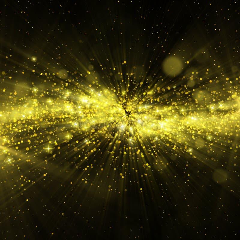 Blänka stjärnor på bokehbakgrund