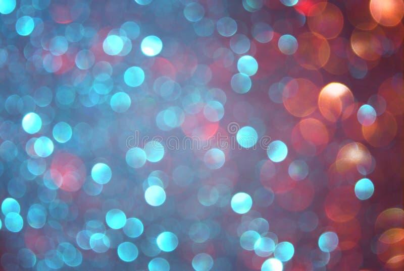 Blänka tappningljusbakgrund blått, brunt och purpurfärgade blandade färger defocused royaltyfria bilder