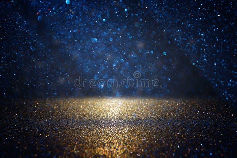 Blänka tappningljusbakgrund E de-fokuserat royaltyfria bilder