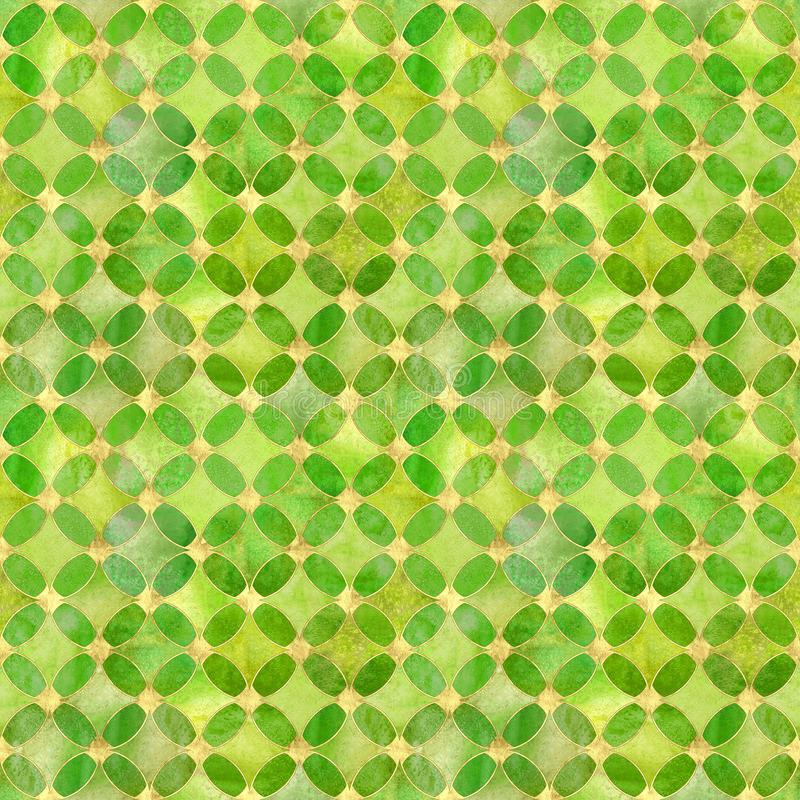 Blänker gul grön guld för sömlös akvarellgrunge abstrakt begrepptextur vektor illustrationer