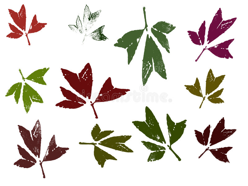 Blätter 2 stock abbildung