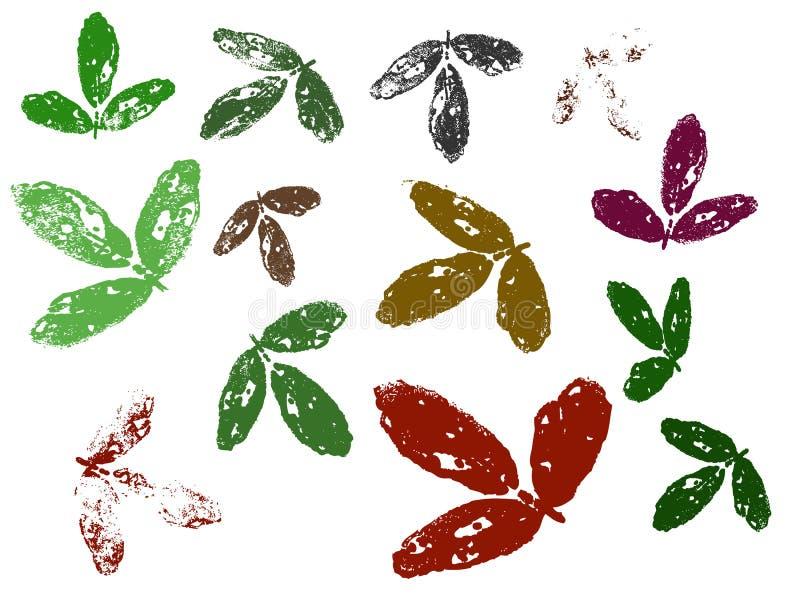 Blätter 6 stock abbildung