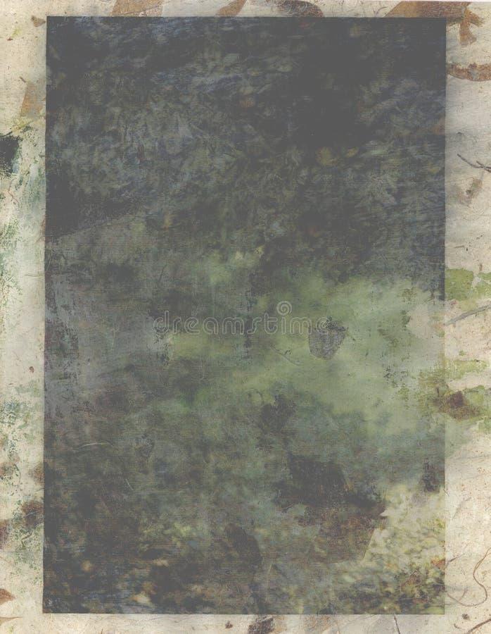 Blätter betteten Hintergrund ein stock abbildung