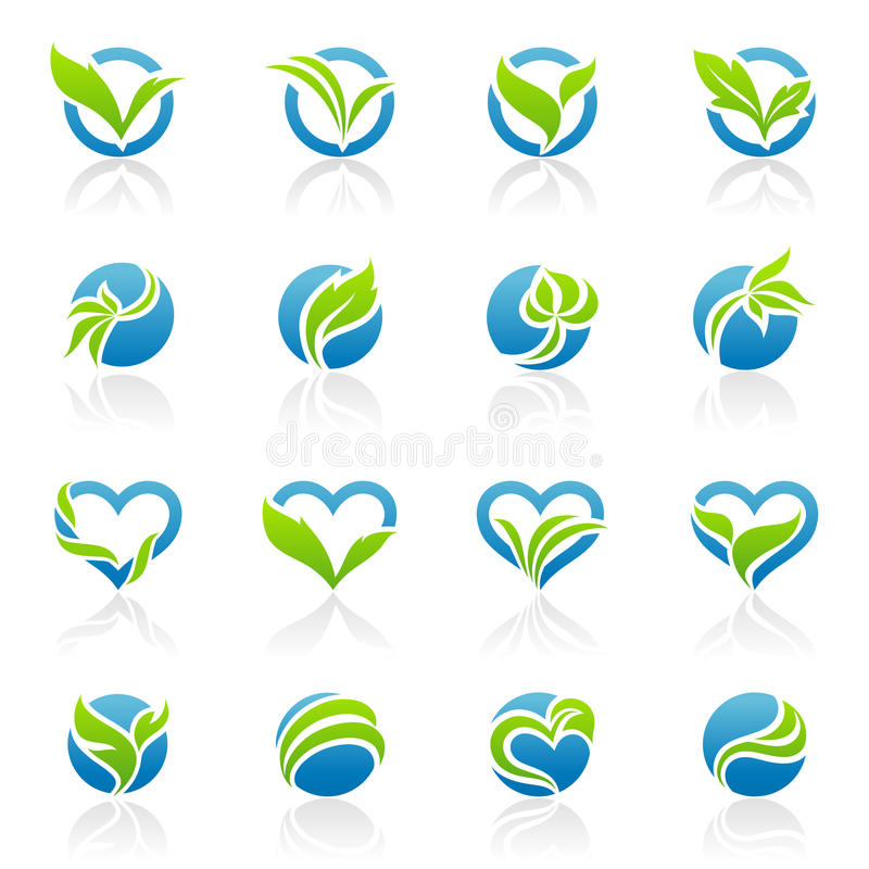 Blätter. Elemente für Auslegung. lizenzfreie abbildung