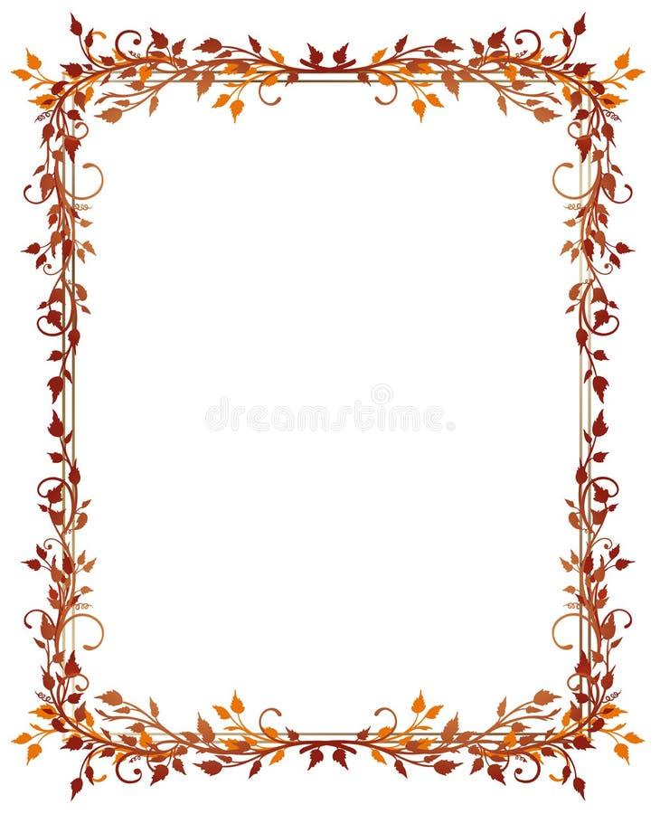 Blätter, Herbst, Rahmen vektor abbildung. Illustration von ...