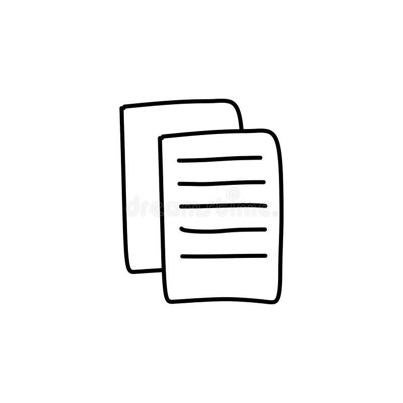 Blätter Papier Skizzenikone Element der Bildungsikone für bewegliche Konzept und Netz apps Entwurfsblätter papier Skizzenikone kö stock abbildung